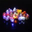 זול בלונים-50pcs / set עגול הוביל rgb פלאש מנורות כדור בלון אורות עבור פנס חג המולד מסיבת החתונה