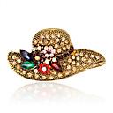 billiga Nålar och broscher-Dam Broscher Mode Euramerikansk Bergkristall Brosch Smycken Guld Till Bröllop Party Speciellt Tillfälle Dagligen