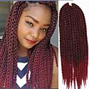 Χαμηλού Κόστους Πλεξούδες μαλλιών-Μαλλιά για πλεξούδες Πλεκτά κουτιά Με βελονάκι Αβάνα Πλεξούδες Twist Εξτένσιον από Ανθρώπινη Τρίχα 100% μαλλιά kanekalon Kanekalon 12 ρίζες / πακέτο μαλλιά Πλεξούδες Ombre Καθημερινά