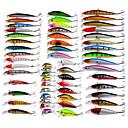 billiga Fiskespön-56 pcs Fiskbete Hårt bete Spigg Veva Lock förpackningar Flytande Sjunker Bass Forell Gädda Kastfiske Spinnfiske Karpfiske Plast Manel Legering / Drag-fiske