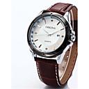ราคาถูก รองเท้าผ้าใบผู้ชาย-สำหรับผู้ชาย นาฬิกาแฟชั่น นาฬิกาอิเล็กทรอนิกส์ (Quartz) หนัง ยางทำจากซิลิคอน ดำ / น้ำตาล 30 m ระบบอนาล็อก ขาว สีดำ