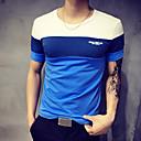 Χαμηλού Κόστους Smart Wristbands-Ανδρικά Μεγάλα Μεγέθη T-shirt Αθλητικά Συνδυασμός Χρωμάτων Στρογγυλή Λαιμόκοψη Patchwork Μπλε & Άσπρο Πορτοκαλί / Κοντομάνικο / Καλοκαίρι