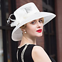 Χαμηλού Κόστους Γυναικείες Μπότες-Φτερό Τούλι Λινάρι Headpiece-Γάμος Ειδική Περίσταση Καθημερινά Διακοσμητικά Κεφαλής Καπέλα 1 Τεμάχιο