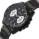 ราคาถูก เสื้อยืดปีนเขา-สำหรับผู้ชาย นาฬิกาแนวสปอร์ต นาฬิกาแฟชั่น นาฬิกาอิเล็กทรอนิกส์ (Quartz) ดำ 30 m ระบบอนาล็อก ขาว สีดำ