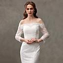 ราคาถูก ผ้าคลุมสำหรับชุดแต่งงาน-ลูกไม้ งานแต่งงาน / Party / Evening Women's Wrap กับ ลูกไม้ / ปุ่ม Boleros