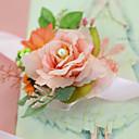 """baratos Bouquets de Noiva-Bouquets de Noiva Buquê de Pulso Casamento / Festa / Noite / Festa de Noivado Tule / Cetim 1.18""""(Aprox.3cm)"""