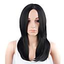 baratos Um pacote de cabelo-Perucas sintéticas Liso Reto Peruca Médio Preto Natural Cabelo Sintético Mulheres Preta