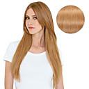 Χαμηλού Κόστους Εξτένσιονς μαλλιών με κλιπ-Κουμπωτό Επεκτάσεις ανθρώπινα μαλλιών Ίσιο Φυσικά μαλλιά Εξτένσιον από Ανθρώπινη Τρίχα Γυναικεία Ξανθό Φράουλας