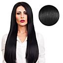 Χαμηλού Κόστους Εσωτερικά Φώτα Αυτοκινήτων-Με Ταινία Επεκτάσεις ανθρώπινα μαλλιών Ίσιο Φυσικά μαλλιά Κατάμαυρο