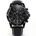 ราคาถูก รองเท้าผ้าใบผู้ชาย-สำหรับผู้ชาย นาฬิกาแฟชั่น นาฬิกาอิเล็กทรอนิกส์ (Quartz) หนัง ดำ 30 m ระบบอนาล็อก สีดำ