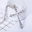 povoljno Religijski nakit-Muškarci Sintetički dijamant Ogrlice s privjeskom Kereszt Križani Krom Pink Ogrlice Jewelry Za Dar Dnevno Kauzalni