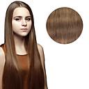 Χαμηλού Κόστους Εξτένσιονς μαλλιών με κλιπ-Κουμπωτό Επεκτάσεις ανθρώπινα μαλλιών Ίσιο Εξτένσιον από Ανθρώπινη Τρίχα Φυσικά μαλλιά Γυναικεία - Ash Μπράουν