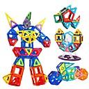 Χαμηλού Κόστους Μαγνητικά τουβλάκια-Μαγνητικό μπλοκ Μαγνητικά πλακίδια Τουβλάκια 168 pcs Αυτοκίνητο Ρομπότ Vehicul de Construcție συμβατό Legoing Δώρο Μαγνητική Αγορίστικα Κοριτσίστικα Παιχνίδια Δώρο
