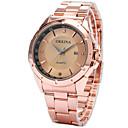 ราคาถูก รองเท้าบูตผู้ชาย-สำหรับผู้ชาย นาฬิกาแฟชั่น นาฬิกาอิเล็กทรอนิกส์ (Quartz) เงิน / Rose Gold 30 m ระบบอนาล็อก สีเงิน Rose Gold