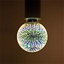 billige Reiseprodukter til hunder-1pc 6 W LED-globepærer LED-glødepærer 500 lm E26 / E27 G95 35 LED perler Integrert LED Dekorativ Stjernefull 3D fyrverkeri Multi-farger 85-265 V / RoHs