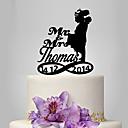 ราคาถูก ของตกแต่งหน้าเค้ก-อุปกรณ์แต่งหน้าเค้ก ส่วนบุคคล คู่คลาสสิก อคริลิค การแต่งงาน วันครบรอบปี Bridal Shower ธีมสวน ธีมคลาสสิก OPP