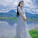 Χαμηλού Κόστους Φορέματα Λολίτα-Πριγκίπισσα Casual Lolita Φορέματα Γυναικεία Κοριτσίστικα Ιαπωνικά Κοστούμια Cosplay Λευκό / Μπλε / Ροζ Πεπαλαιωμένο Δαντέλα Μέχρι τον αστράγαλο