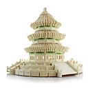 ราคาถูก จิ๊กซอว์3D-3D-puslespill / Puslespill / Model Building Kits อาคารที่มีชื่อเสียง / สถาปัตยกรรมแบบจีน / วัดแห่งสวรรค์ การจำลอง ทำด้วยไม้ สำหรับเด็ก /