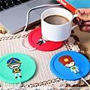 זול כלי שתייה-קריקטורה יצירתי סיליקון חשמל בידוד COaster USB חם כוס חימום מכשיר משרד קפה תה חם מחצלת משטח