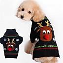 billiga Hundkläder-Hund Kappor Tröjor Vinter Hundkläder Svart Röd Kostym Cotton Tecknat Ledigt / vardag Mode Jul XXS XS S M L XL