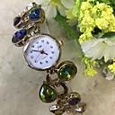 Χαμηλού Κόστους Μοδάτα Σκουλαρίκια-Γυναικεία Βραχιόλι Ρολόι Προσομοίωσης Ρόμβος Ρολόι Diamond Watch Χαλαζίας Χρυσό Τριανταφυλλί απομίμηση διαμαντιών / Αναλογικό κυρίες Καθημερινό - Κόκκινο Χακί καμουφλάζ Πράσινη / Ενας χρόνος