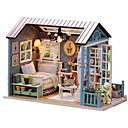 ราคาถูก กล่องดนตรี-กล่องดนตรี Dukkehus DIY เฟอร์นิเจอร์ บ้าน ทำด้วยไม้ ไม้ ทุกเพศ Toy ของขวัญ