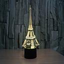 povoljno Smart Lights-Toranj 3 d svjetiljka kreativna vizualna stereo lampica svjetiljka za projektiranje svjetlima za kontakt
