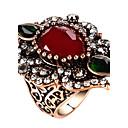 billige Statement Ringe-Dame Statement Ring Ring tommelfingerring Rød Grønn Blå Glass Legering Geometrisk Form Statement damer Personalisert Fest jubileum Smykker