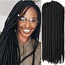 זול צמות שיער-שיער קלוע סריגה הוואנה מנעולי Dread ראסטות / פו לוקס Kanekalon 24 שורשים / Pack שיער צמות רך הרחבות Dreadlock ראסטות מלאכותית