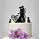 povoljno Svadbeni ukrasi-Figure za torte Vrt Tema / Klasični Tema / rustikalni Tema Par Classic Opeka Vjenčanje / godišnjica / Djevojačka večer s OPP