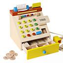 billiga Jobb- och rollspelsleksaker-Handla Pengar och bankväsende Kassa Register Toy Trä Barn Leksaker Present 1 pcs