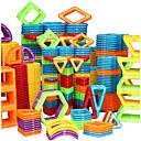 זול בלוקים משולבים-בלוק מגנטי אריחים מגנטיים אבני בניין 20-128 pcs מכונית רובוט גלגל ענק תואם Legoing מתנה מגנטי 3D בנים בנות צעצועים מתנות