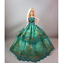 povoljno Dodaci za lutku-Haljina za lutke Party / Večer Za Barbie Cvjetni / Botanički Saten / til Čipka Saten Haljina Za Djevojka je Doll igračkama