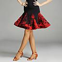 povoljno Odjeća za latino plesove-Latino ples Suknjice Žene Seksi blagdanski kostimi Spandex / Chinlon Drapirano / Životinjski uzorak Bez rukávů Prirodno Suknja / Latin Dance