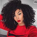 Χαμηλού Κόστους Περούκες από Ανθρώπινη Τρίχα-Φυσικά μαλλιά Χωρίς επεξεργασία Ανθρώπινη Τρίχα 360 μετωπικής Περούκα στυλ Βραζιλιάνικη Kinky Curly Περούκα 180% Πυκνότητα μαλλιών / Φυσική γραμμή των μαλλιών / 100% δεμένη στο χέρι / Αμεταποίητος