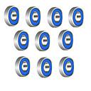 billige Verktøysett-608r 21mm x 7mm metallskjermede radialkullager dypsporkullager for fidget spinner leketøy --- 10 stk