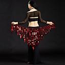 povoljno Odjeća za trbušni ples-Trbušni ples Šalovi za bokove za trbušni ples Žene Seksi blagdanski kostimi Poliester Šljokice Trbušni ples Hip Šal