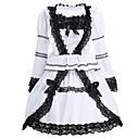 Χαμηλού Κόστους Σχέδιο σπούτνικ-Classic Lolita Lolita Φορέματα Γυναικεία Κοριτσίστικα Βαμβάκι Ιαπωνικά Κοστούμια Cosplay Λευκό Δαντέλα Μακρυμάνικο Κοντό Μήκος / Κλασσική / Παραδοσιακή Lolita