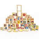 ราคาถูก บล็อกโฟม-Building Blocks สำหรับเป็นของขวัญ Building Blocks ไม้ธรรมชาติ 3-6 ปี Toys