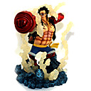 billige Anime actionfigurer-Anime Action Figurer Inspirert av One Piece Monkey D. Luffy PVC 19 cm CM Modell Leker Dukke
