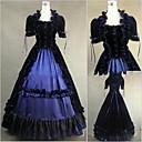 ราคาถูก เสื้อผ้าประวัติศาสตร์และวินเทจ-วินเทจ สไตล์โกธิค Victorian Medieval ศตวรรษที่ 18 หนึ่งชิ้น ชุดเดรส Party Costume Masquerade สำหรับผู้หญิง ซาติน เครื่องแต่งกาย Vintage คอสเพลย์ ปาร์ตี้ Prom แขนสั้น ลากพื้น บอลกาวน์ / ที่กำหนดเอง