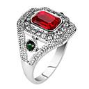 billige Vintage Ring-Dame Statement Ring Ring tommelfingerring Rød Grønn Harpiks Legering Rund Geometrisk Form Statement damer Personalisert Fest jubileum Smykker