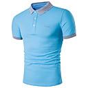 זול מקרנים-אחיד צווארון חולצה רזה פעיל מידות גדולות כותנה, Polo - בגדי ריקוד גברים שחור / שרוולים קצרים / קיץ