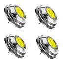 ราคาถูก อุปกรณ์เสริมหลอดไฟ-SENCART 4 ชิ้น 2 W LED สปอตไลท์ 3000/6000/6500 lm G4 1 ลูกปัด LED COB หรี่แสงได้ ขาวนวล ขาวเย็น ขาวธรรมชาติ 12 V / RoHs