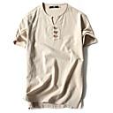 billiga DIY Leksaker-Enfärgad Sport Plusstorlekar Bomull T-shirt - Grundläggande / Kineseri Herr Rund hals Marinblå / Kortärmad / Sommar