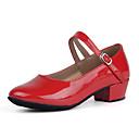 Χαμηλού Κόστους Ημέρα επιστροφής στο σπίτι-Γυναικεία Παπούτσια Χορού Λουστρίν Μοντέρνα παπούτσια Τακούνια Χαμηλό τακούνι Εξατομικευμένο Μαύρο / Ασημί / Κόκκινο / Εξάσκηση / EU39