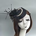 Χαμηλού Κόστους Μοδάτο Κολιέ-Τούλι Kentucky Derby Hat / Γοητευτικά / Καπέλα με Φτερό 1 Εκδήλωση / Πάρτι Headpiece
