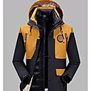 ราคาถูก DIY ตกแต่งภายในรถยนต์-สำหรับผู้ชาย Hiking Jacket กลางแจ้ง ตก ฤดูหนาว รักษาให้อุ่น ซับลง แคมป์ปิ้ง & การปีนเขา การล่าสัตว์ การปีนหน้าผา สีน้ำเงินเข้ม / สีเทา