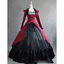 זול תחפושות מהעולם הישן-רוקוקו ויקטוריאני המאה ה 18 שמלות תחפושת למסיבה נשף מסכות בגדי ריקוד נשים מֶשִׁי תחפושות אדום וינטאג Cosplay Party נשף רקודים שרוול ארוך עד הריצפה