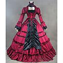 ราคาถูก เสื้อผ้าประวัติศาสตร์และวินเทจ-Rococo Victorian ศตวรรษที่ 18 หนึ่งชิ้น ชุดเดรส Party Costume Masquerade สำหรับผู้หญิง ซาติน เครื่องแต่งกาย แดง Vintage คอสเพลย์ แขนยาว ลากพื้น ขนาดพิเศษ ที่กำหนดเอง